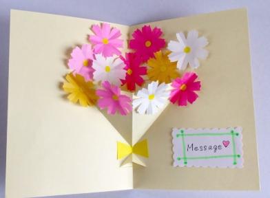 飛び出すカードの簡単な作り方 道具 型紙はどのようなものがいいの