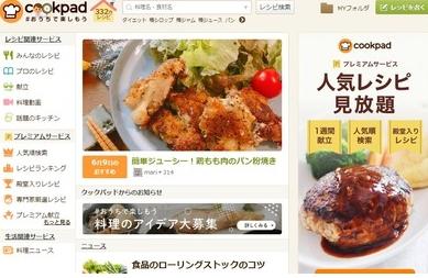 料理検索サイト大手クックパッド「助けて!上場以来初の赤字なの!!」 利用者は4年前と比較して1000万人減