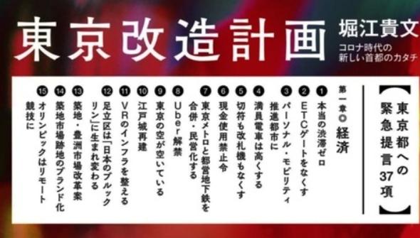 【東京都知事】ホリエモン政策発表。一覧がこちら